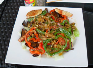 Chicken & Aubergine Salad