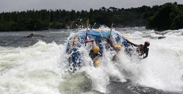 Rafting the Nile in Jinja, Uganda