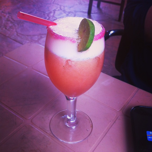 Hibiscus, watermelon, herbs, lime and vodka. Yes. #kampala #papaliontheroof